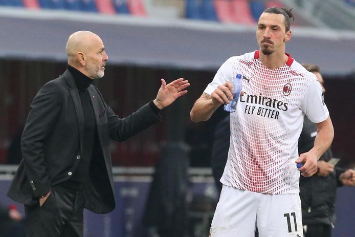 Pioli en Ibrahimovic.