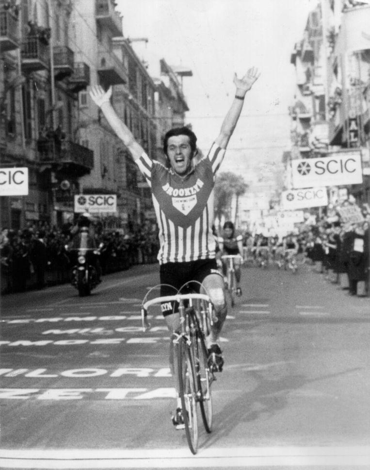 Roger De Vlaeminck in Milaan-San Remo in 1973. Beeld BELGA