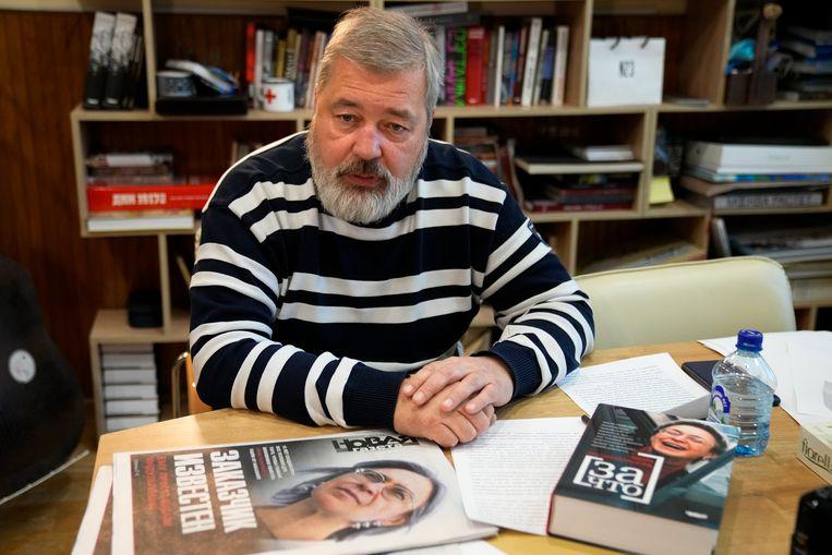 De Russische journalist Dmitri Moeratov. Beeld AP