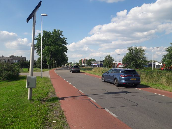 Meetpunt van de provinciale weg N836, de Wageningsestraat in Andelst