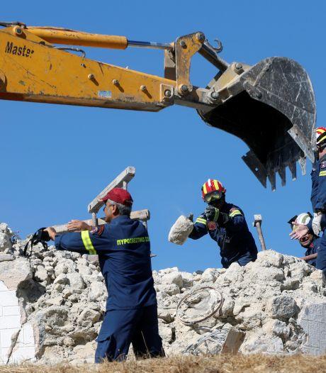 Dode door krachtige aardbeving Kreta