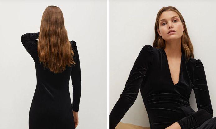Robe en velours - 29,99 euros.