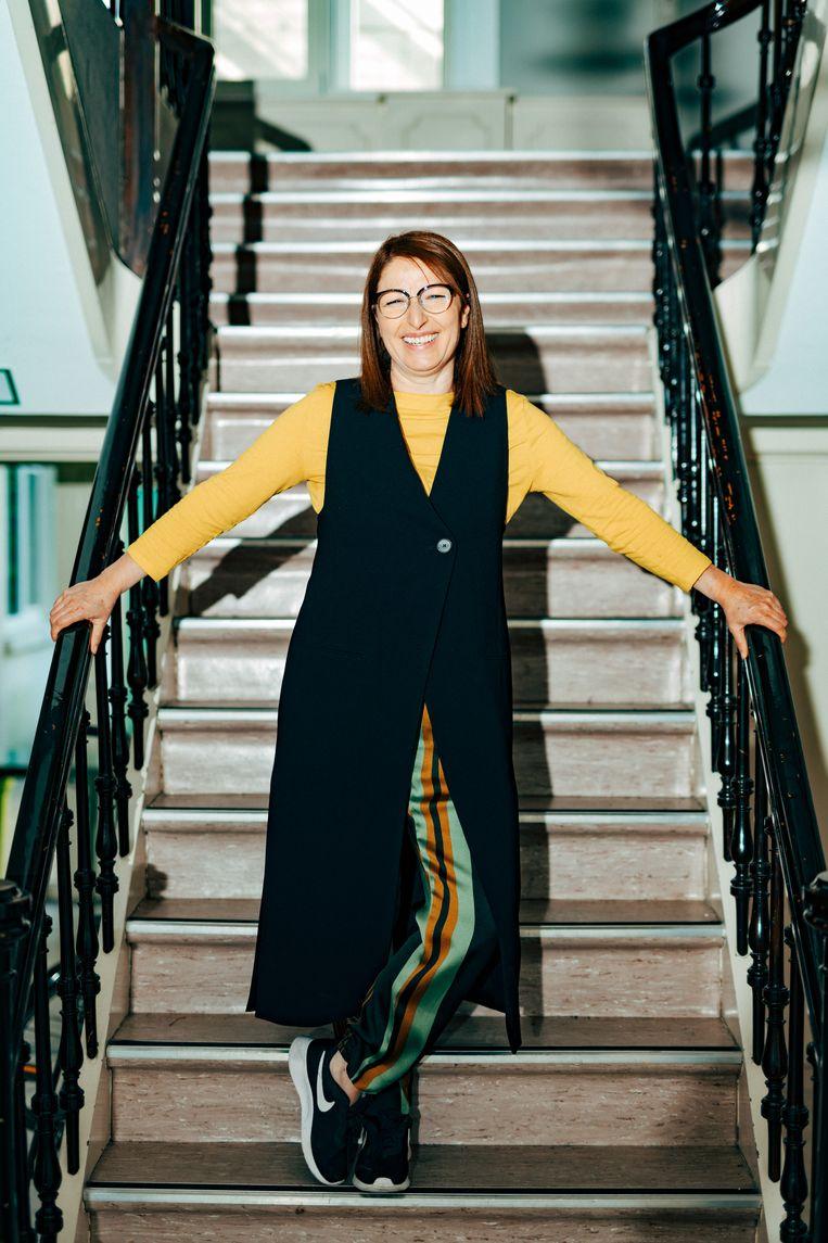 Saïda El Fekri: 'Wanneer jongeren zich thuis veilig voelen, gaan ze niet ontsporen.' Beeld Illias Teirlinck