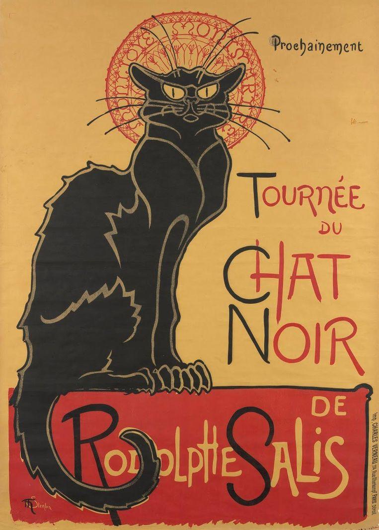 Affiche voor de tournee van Le Chat Noir. Théophile Alexandre Steinlen, 1896 Beeld Van Gogh Museum