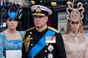 Prins Andrew met zijn dochters Eugenie en Beatrice.