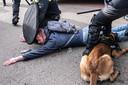 Tim uit Alphen werd met veel geweld gearresteerd en moest worden behandeld in het ziekenhuis.