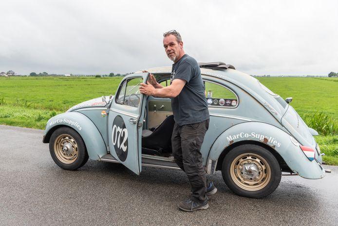 De VW van Marco uit Bunschoten waarmee hij naar de Noordkaap is gereden.
