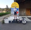 Ondanks de onweders op de dag van de waarheid, vervulde Pieter de dag erop alsnog zijn missie: 5x de Mont Ventoux beklimmen