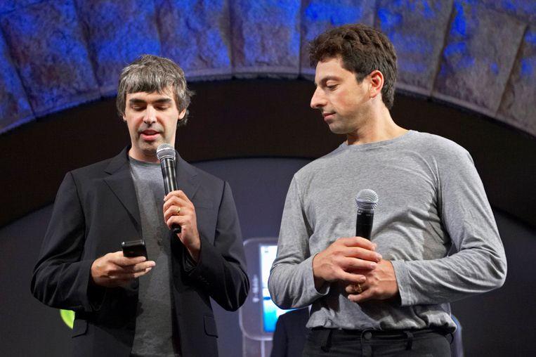 Larry Page (links) en Sergey Brin, oprichters van Google. Beeld REUTERS