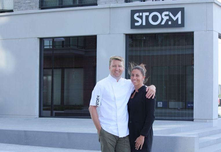 Michiel Rabaey en Nathalie Hiele van restaurant STORM