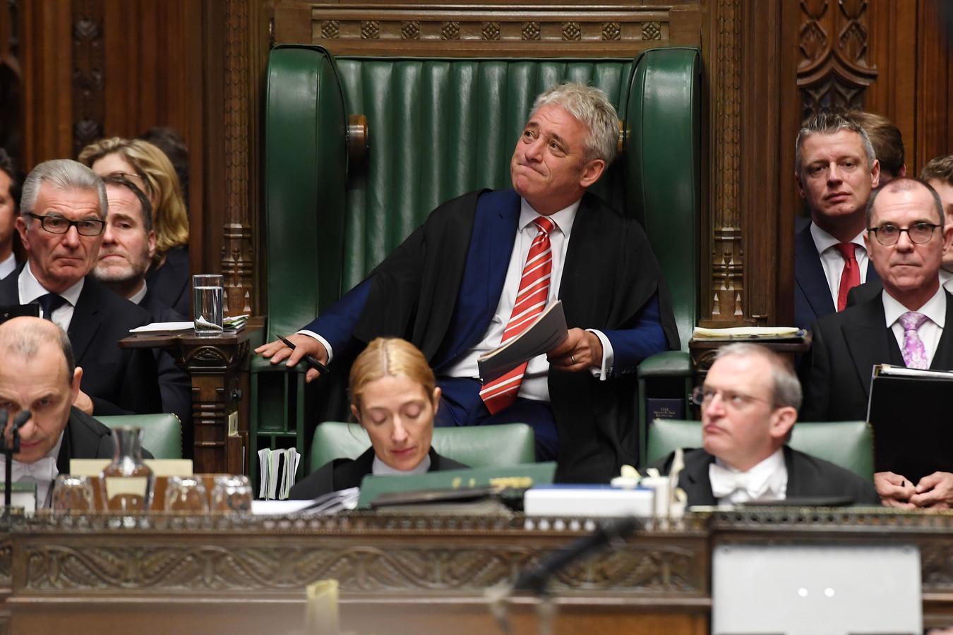John Bercow bedankte gisteren al medewerkers, parlementsleden en familieleden in het Lagerhuis.