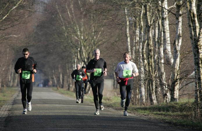 Deelnemers aan de 'halve marathon' in Mariënheem bij Raalte. Archieffoto.