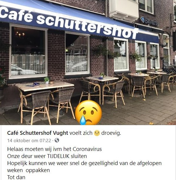Schuttershof was amper open en moest vanwege corona weer dicht.