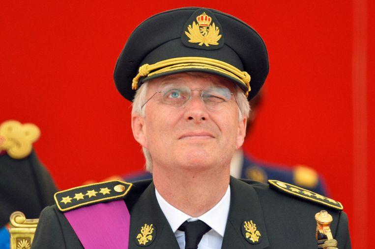 Koning Filip tijdens een vorige 21 juliviering in Brussel. Beeld BELGA