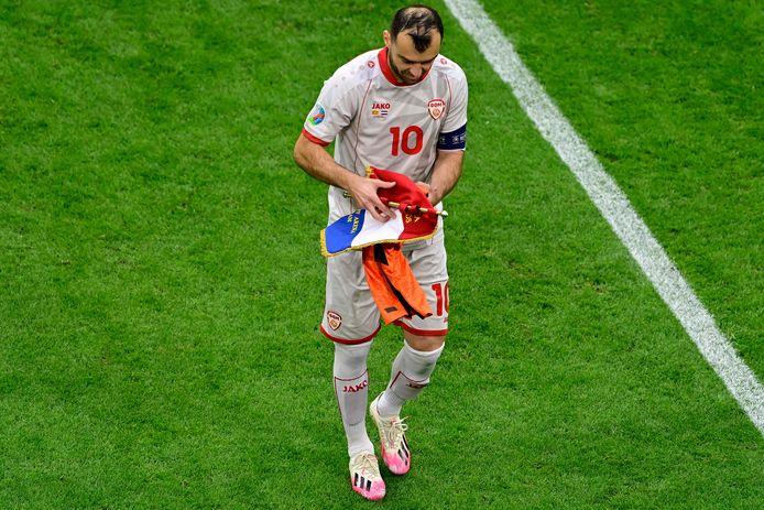 Goran Pandev nam op het EK afscheid van de nationale ploeg van Noord-Macedonië.