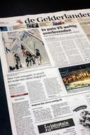 Voorpagina van 'De Gelderlander' van 13 september 2001.