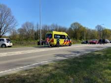 Eén gewonde naar het ziekenhuis na kettingbotsing in Rhenen