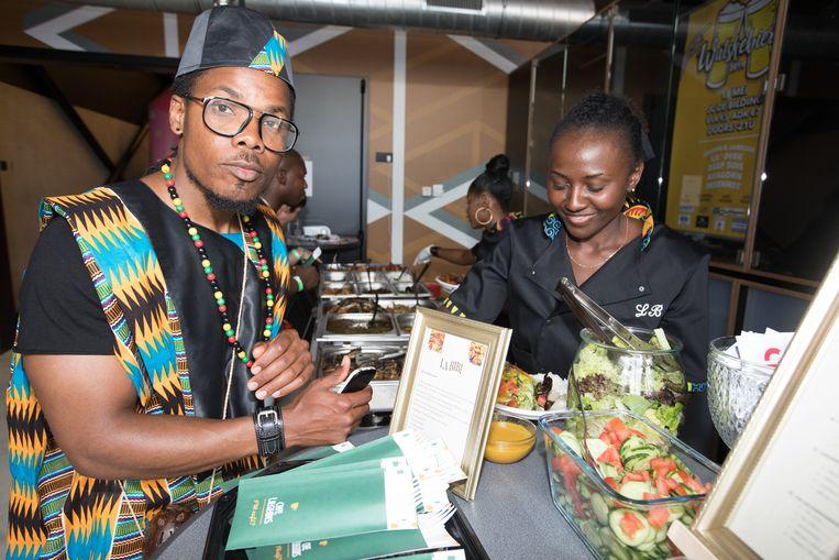 Eerste Africa international festival in Bilzen.