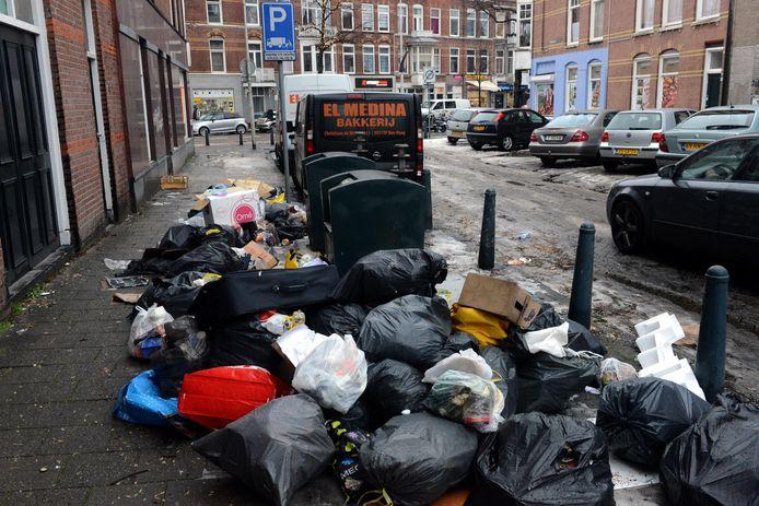 Veel afval in Den Haag