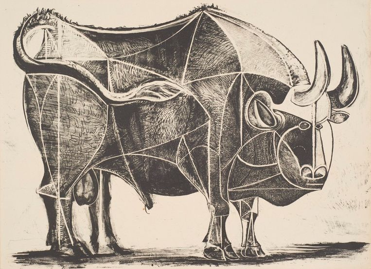 Pablo Picasso, Le Taureau State IV, 1945 Beeld Pictoright Amsterdam 2019