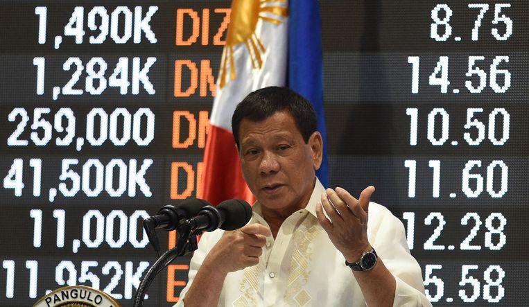 De Filipijnse leider vaardigde de krijgswet voor het eerst uit op 23 mei. Nu wordt de oorlogstoestand verlengd. Beeld afp