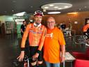 Kees Korstanje met Tom Dumoulin tijdens het WK Wielrennen.