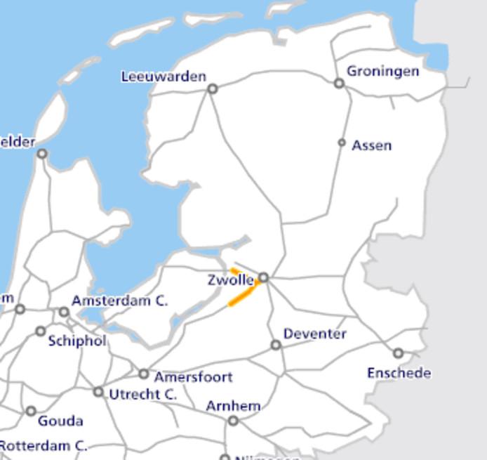 Van Zwolle naar 't Harde en van Zwolle naar Kampen rijden momenteel geen sprinters.