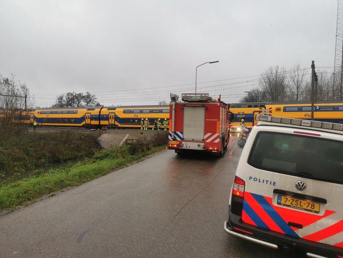 Door een aanrijding zijn er geen treinen tussen Culemborg en Tiel.