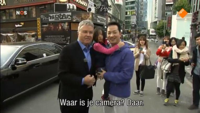 Guus Hiddink in Zuid-Korea. Beeld NOS