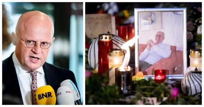 Minister Ferd Grapperhaus. Foto rechts: op 7 november, enkele dagen na de fatale mishandeling van Jan (73) in Arnhem was er een stille tocht door de wijk.  Het motief 'pedojacht' was toen nog niet bekend. Het Openbaar Ministerie kan niet bevestigen dat de man een pedoseksueel was.