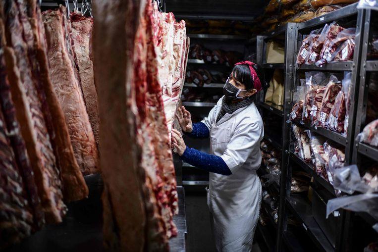 Een slager in Buenos Aires. Beeld AFP