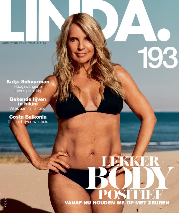 Linda de Mol in bikini op de cover.