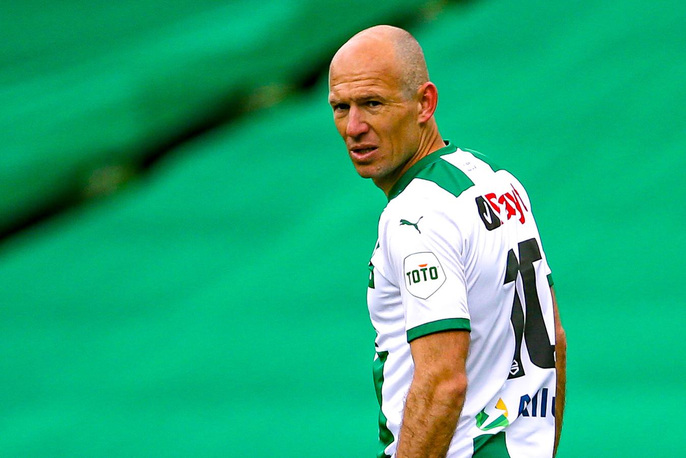 Arjen Robben kon als invaller tegen Sparta weinig uitrichten.