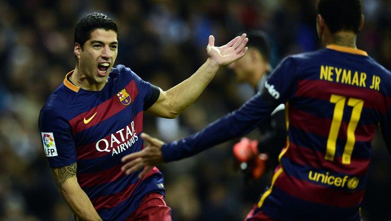 Luis Suárez kwam tweemaal tot scoren Beeld anp