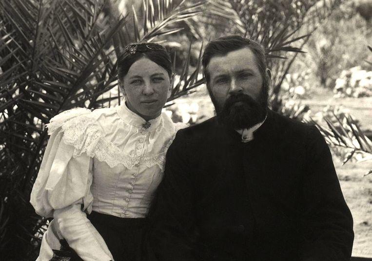 Frieda en Carl Strehlow, de ouders van Ted. Beeld Wikimedia