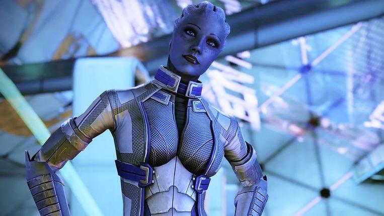 Zomaar een vriendelijke alien of 'love interest'? Het is kiezen geblazen in Mass Effect Legendary Edition. Beeld BioWare