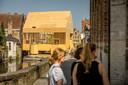 The Bruges Diptych is het paviljoen langs de Gouden-Handrei. Het is eindelijk klaar.