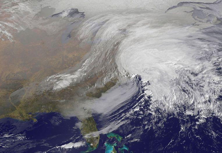 Luchtfoto van een storm boven de Verenigde Staten Beeld afp
