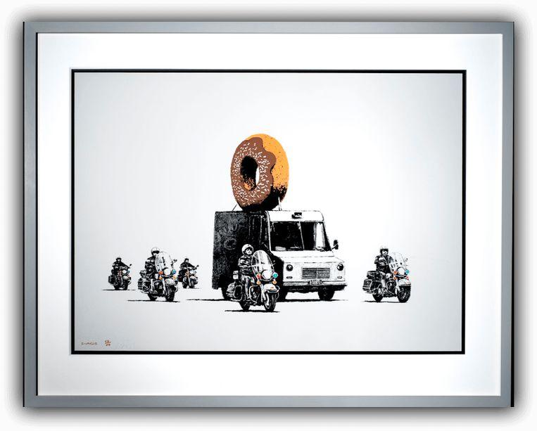 Uit de Banksy-expo in Brussel. Beeld RV