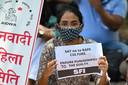 Protest in New Delhi tegen de verkrachtingscultuur.