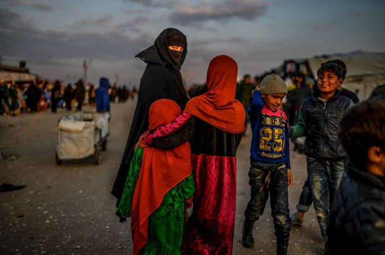 Het vluchtelingenkamp Al-Hol in Syrië. Beeld AFP
