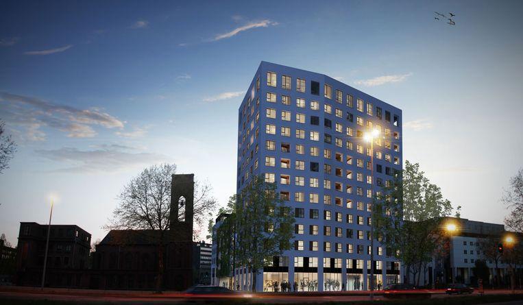 De Lins Tower, een van de projecten van Land Invest in Antwerpen. Beeld Land Invest