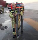 Dirk Vanluchene (brandweer Meulebeke) tijdens een interventie.