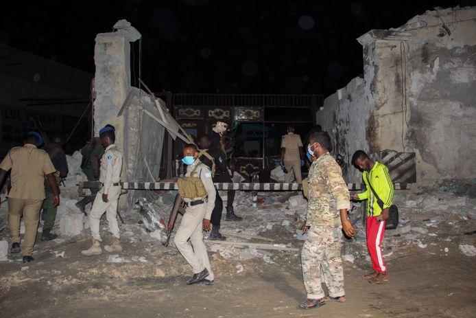 Beelden van een recente aanslag van al-Shabaab.