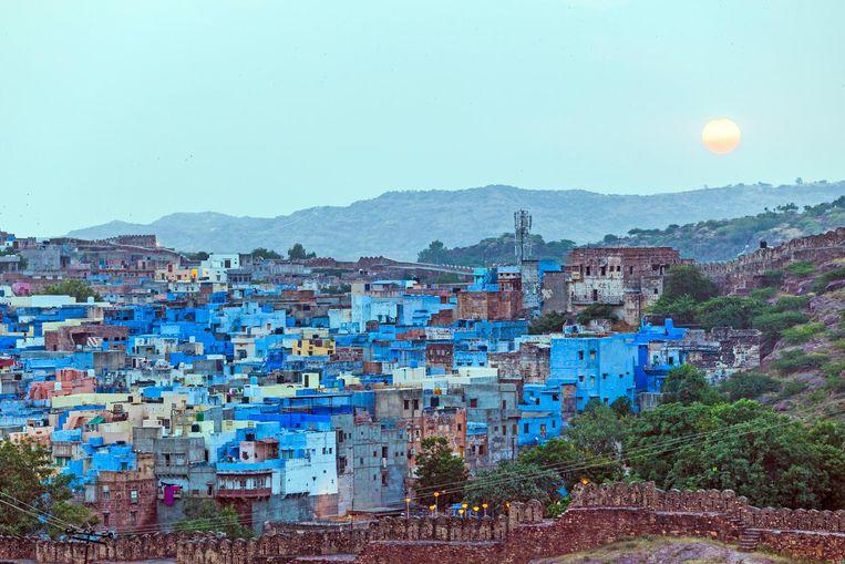 De Blauwe Stad, omdat praktisch alle huisjes in het blauw geschilderd zijn. Beeld Thinkstock