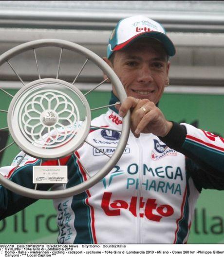 Philippe Gilbert termine l'année 3e mondial
