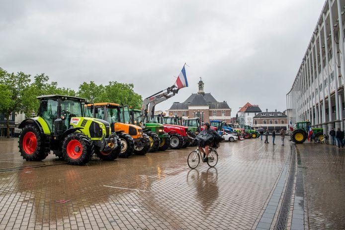 Boerenprotest op het Marktplein in Apeldoorn.