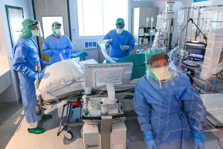 Het Montlégia-ziekenhuis in Luik. Beeld Photo News
