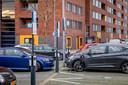 Een van de nieuwe laadpleinen voor elektrische auto's in Rotterdam.