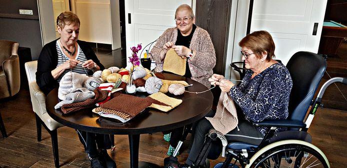 gasten in zorghotel Merlinde breien voor Australie